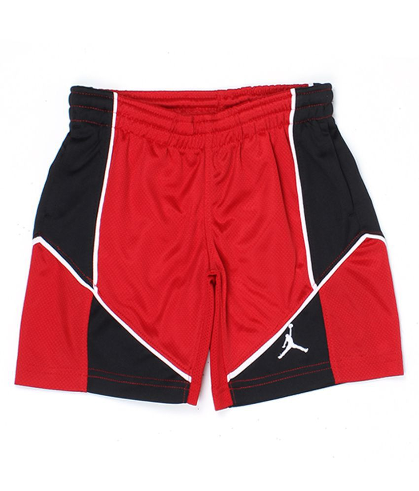 Jordan Boys Red Solid Shorts