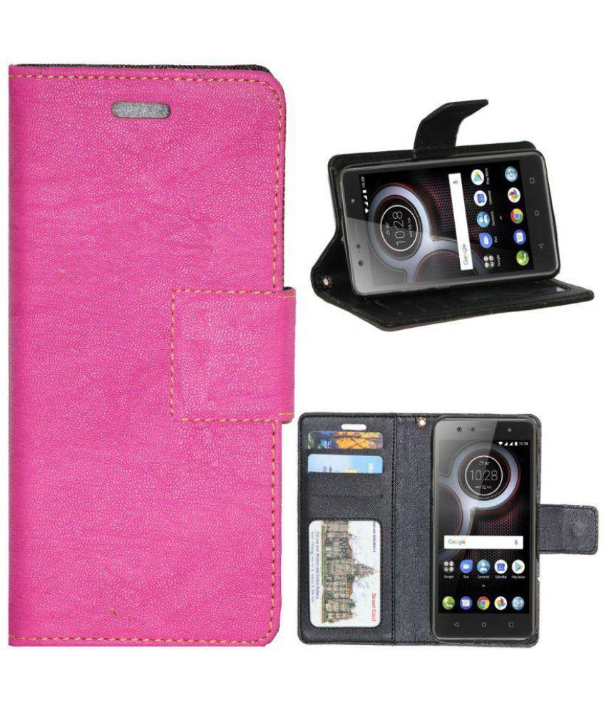 Lenovo K8 Plus Flip Cover by Gizmofreaks - Pink