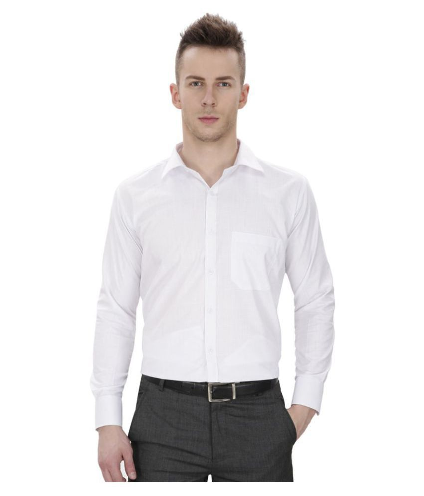 MS Feshion White Formal Regular Fit Shirt