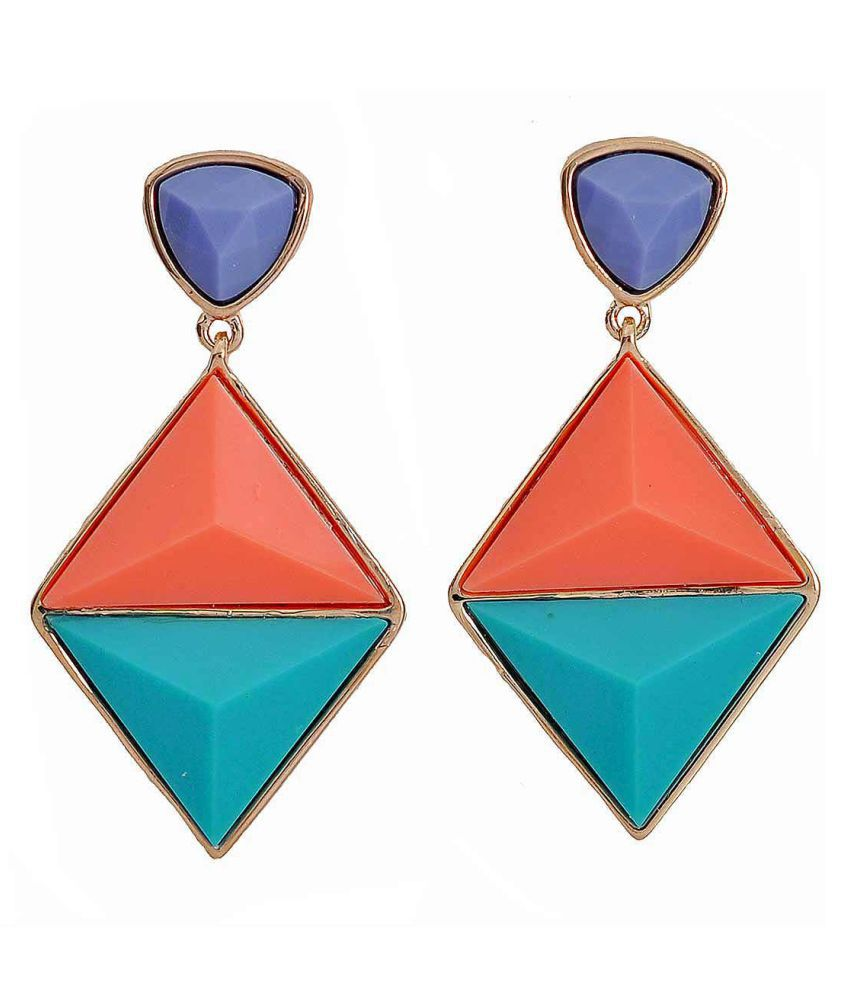 Maayra Women Earrings Partywear Alloy Dangler Drop Multicolour Fashion Jewellery