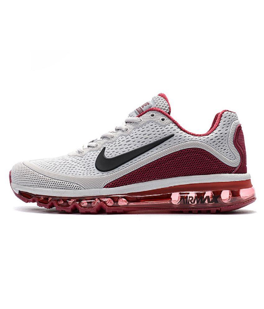 sports shoes 603b9 8e37e Nike Airmax 2017.5 Gray Running Shoes