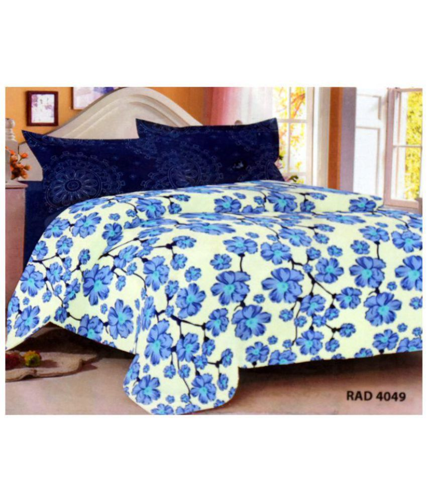 sleepwell cotton double bedsheet with 2 pillow covers buy