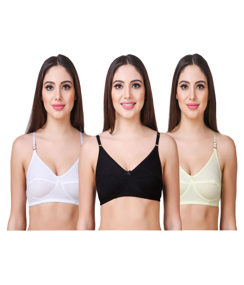 In Beauty Cotton Push Up Bra - Multi Color