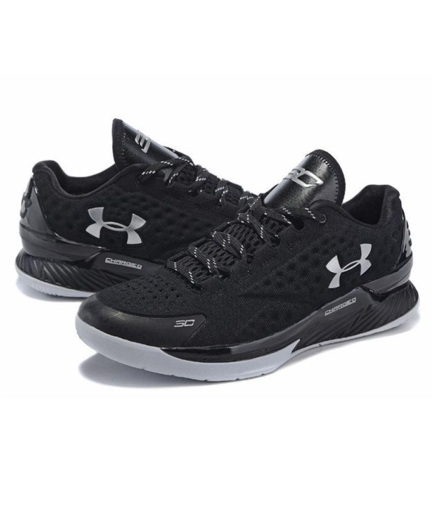 594549239b2c Under Armour Stephen Curry 1 Low Black Running Shoes - Buy Under Armour  Stephen Curry 1 Low Black Running Shoes Online at Best Prices in India on  Snapdeal