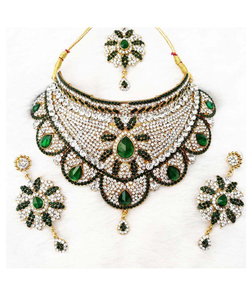 Kundan Zirconic Necklace jewelry Set