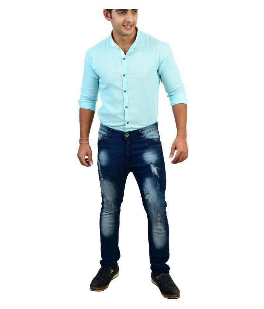 zafraa Dark Blue Skinny Jeans