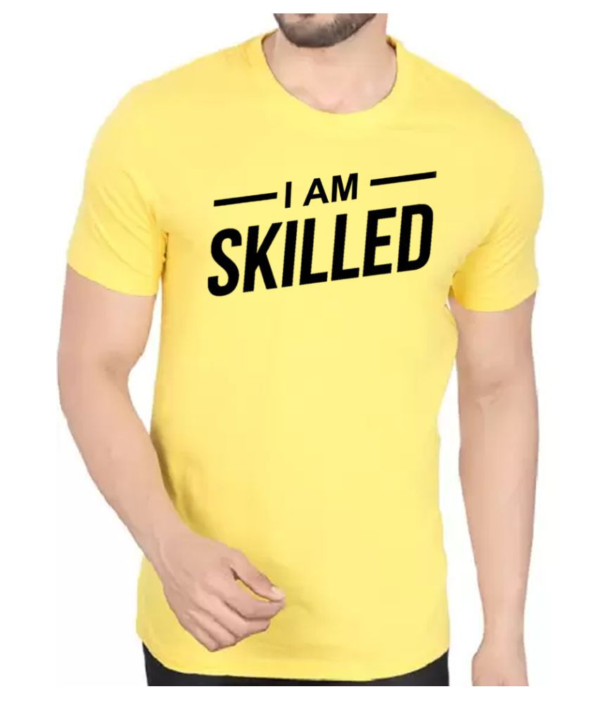 BBK Yellow Round T-Shirt Pack of 1