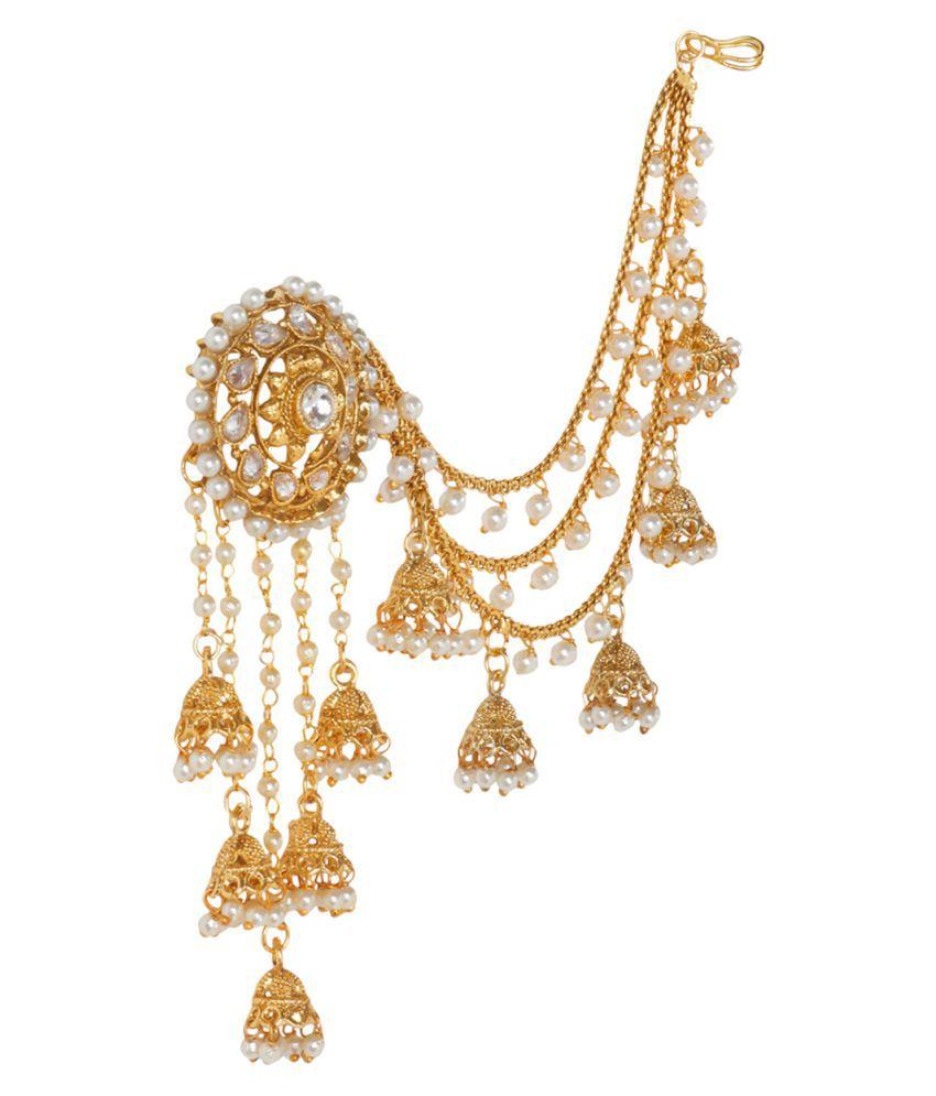 Prita\'s Original Bahubali Stylish Devsena Jhumki Earring Pearl ...