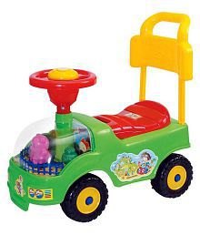 Bonkerz 4 Wheel Baby Rider Toddler & Push Along Small Magic Car With Horn For Kids