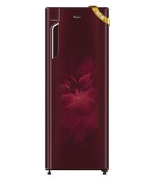 Whirlpool 280 Ltr 5 Star 305IM Fresh PRM 5S Wine Dhalia Single Door Refrigerator - Maroon