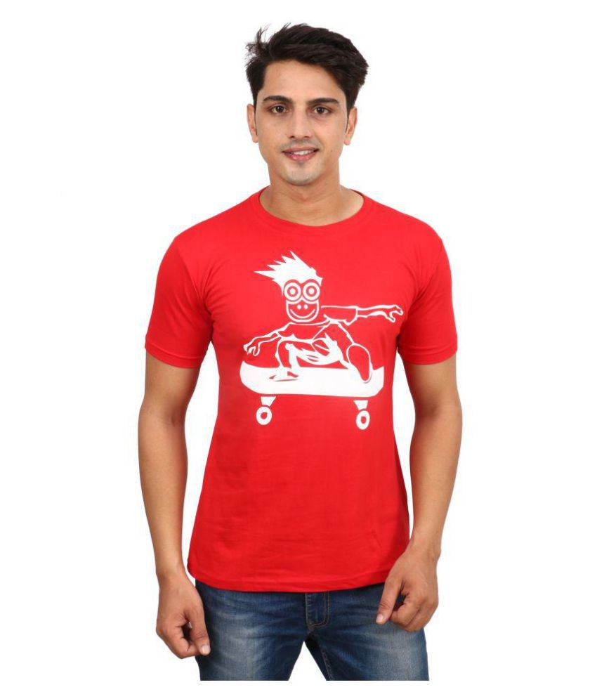 DRAY Red Round T-Shirt Pack of 1
