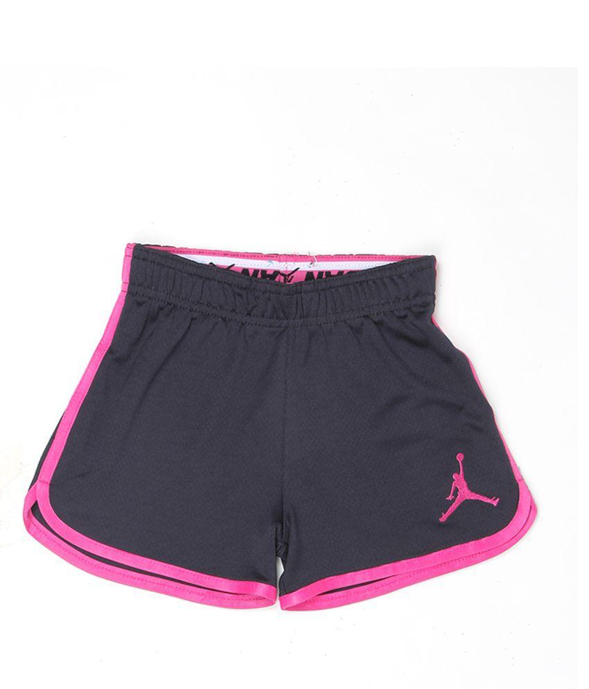 Jordan Girls Black Solid Shorts