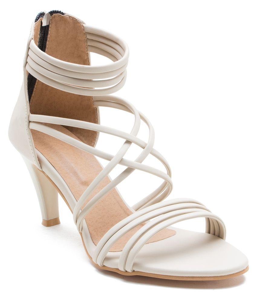 ZAIRA & SAIRA Beige Stiletto Heels