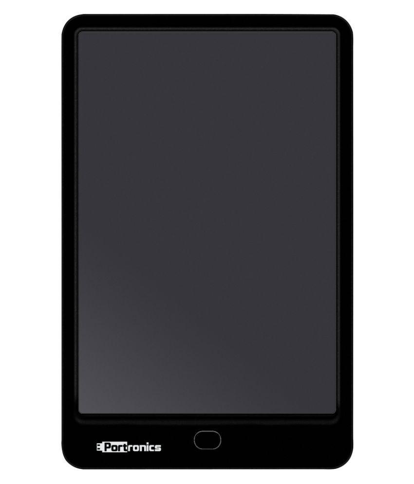 Portronics POR-796 Portable Ruffpad E-Writer 10€ Re-Writable LCD Pad, Paperless Memo Digital Tablet Notepad, Stylus Drawing Handwriting Board