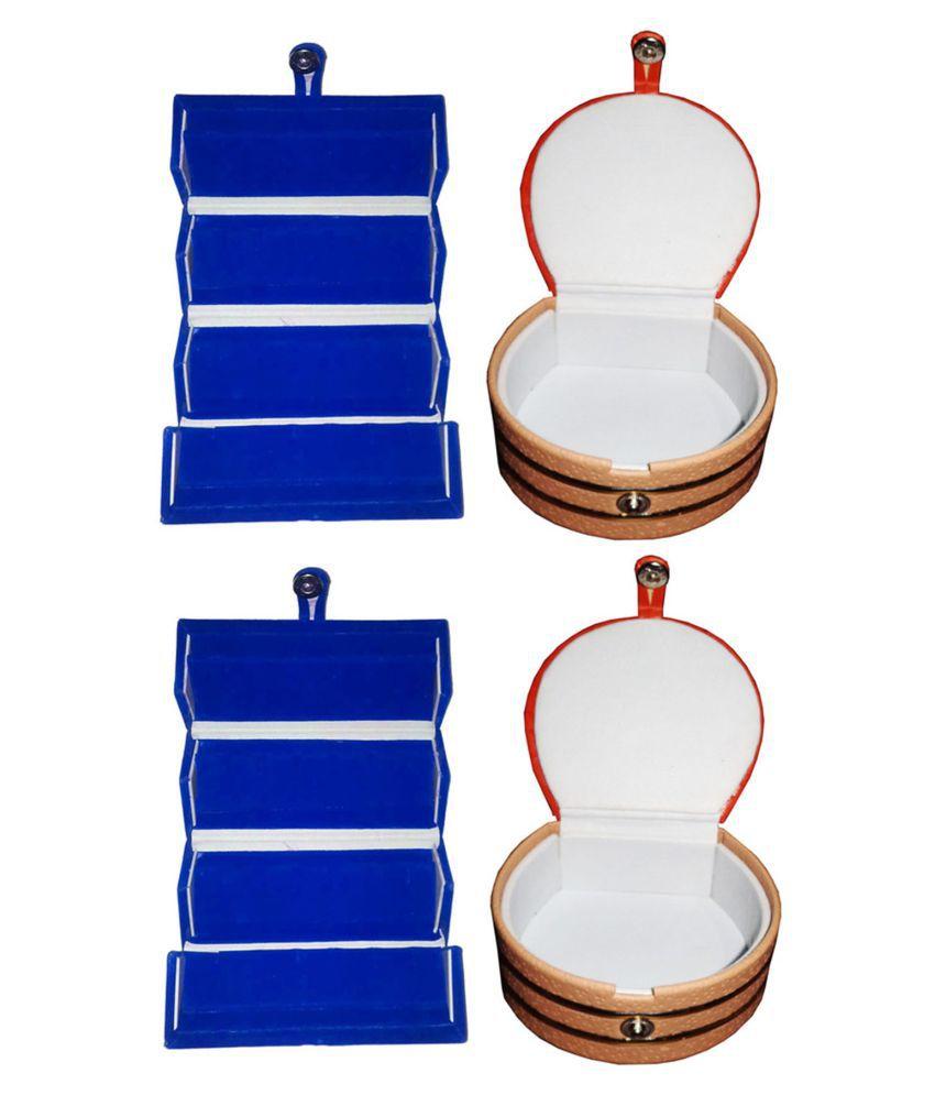 Afrose Combo 2 pc blue ear ring folder and 2 pc bangle box