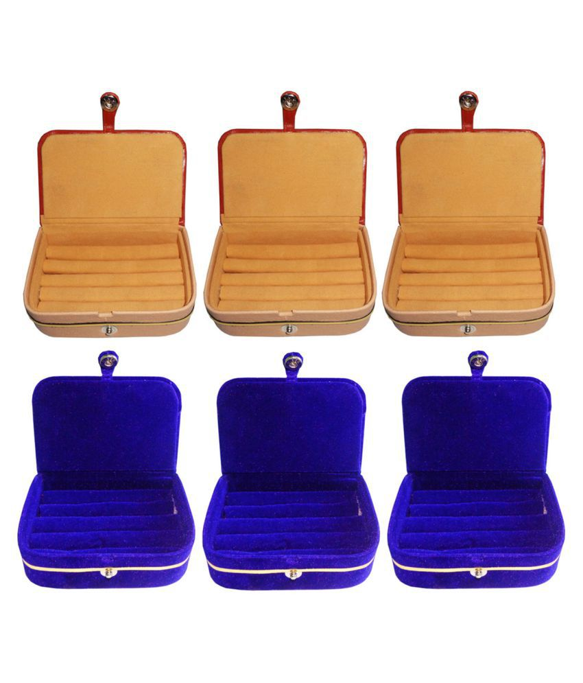 Afrose Combo of 3 pcs earEar ring folder and 3 pcs Ear ring jewelry box
