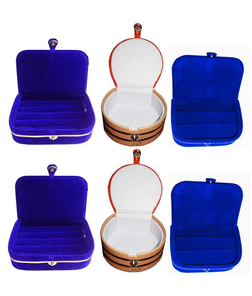 Sabita Combo 2 pc blue ring box 2 pc blue ear ring box  and 2 pc bangle box
