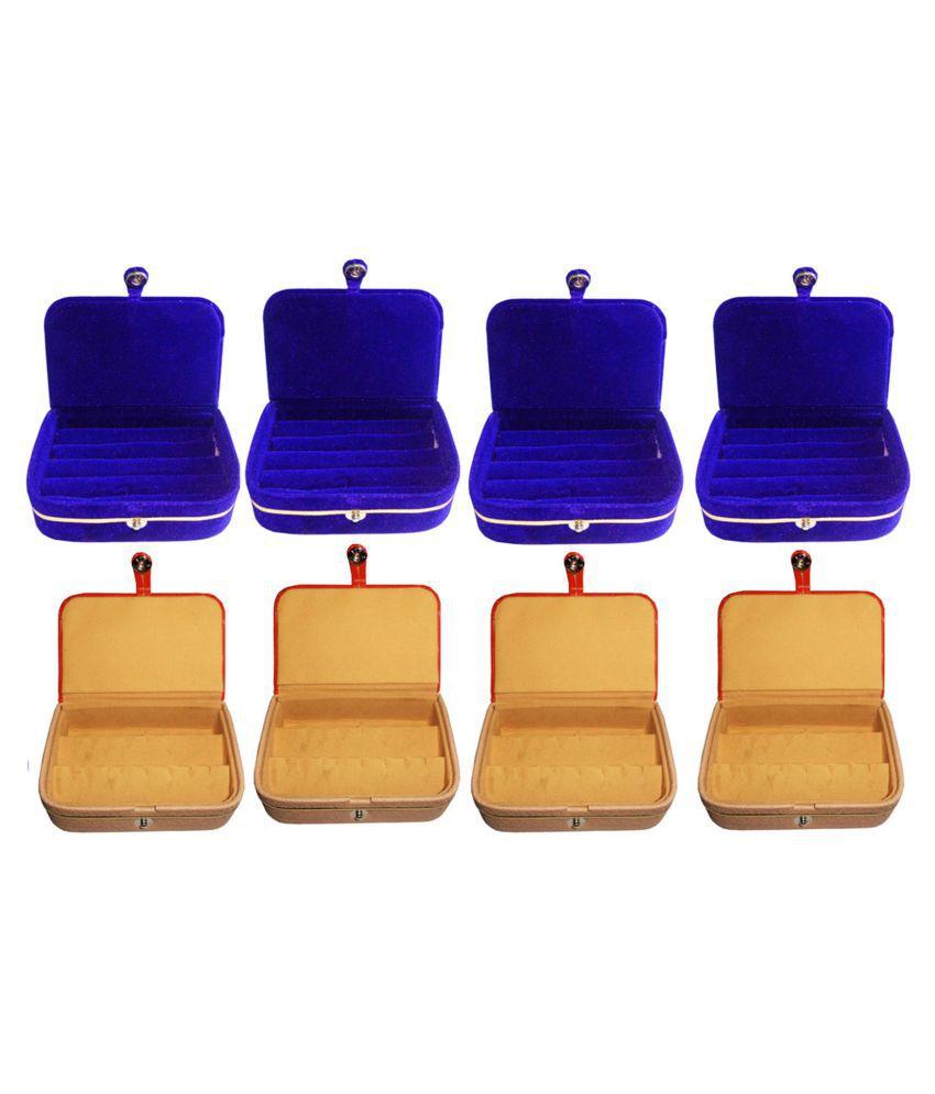Sabita Combo of 4 pcs earEar ring folder and 4 pcs Ear ring jewelry box