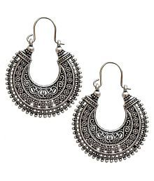 Lucky Jewellery Trendy Silver Oxidised Plating Earring For Girls & Women