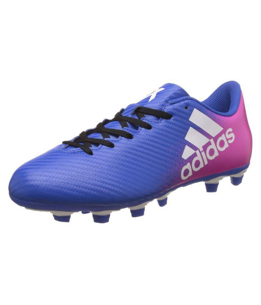 hot sale online acb26 b7b3e Adidas X 16.4 FxG Blue Football Shoes - Buy Adidas X 16.4 FxG Blue Football  Shoes Online at Best Prices in India on Snapdeal