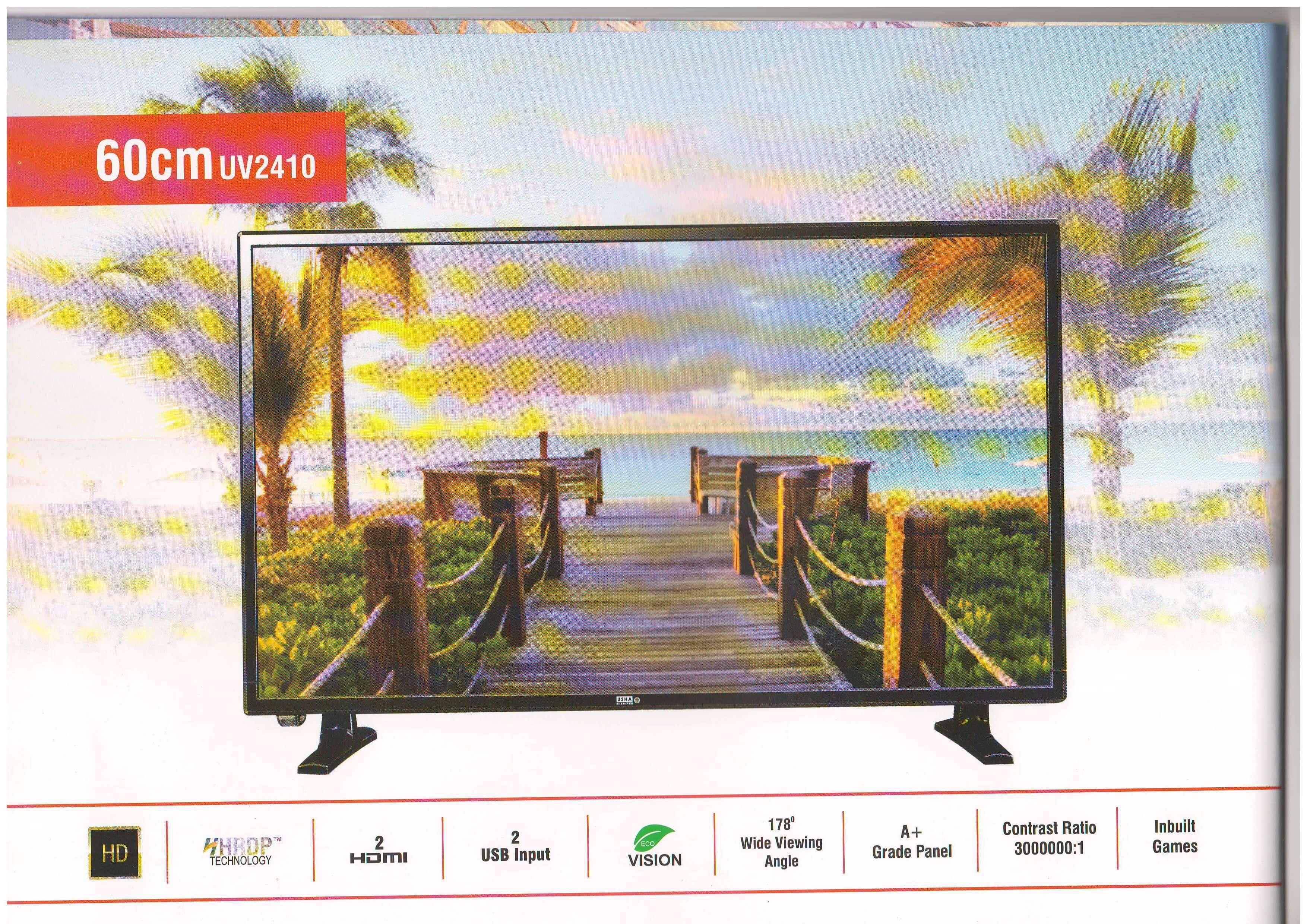 USHA SHRIRAM UV2410 60 cm ( 23 ) HD Ready (HDR) LED Television