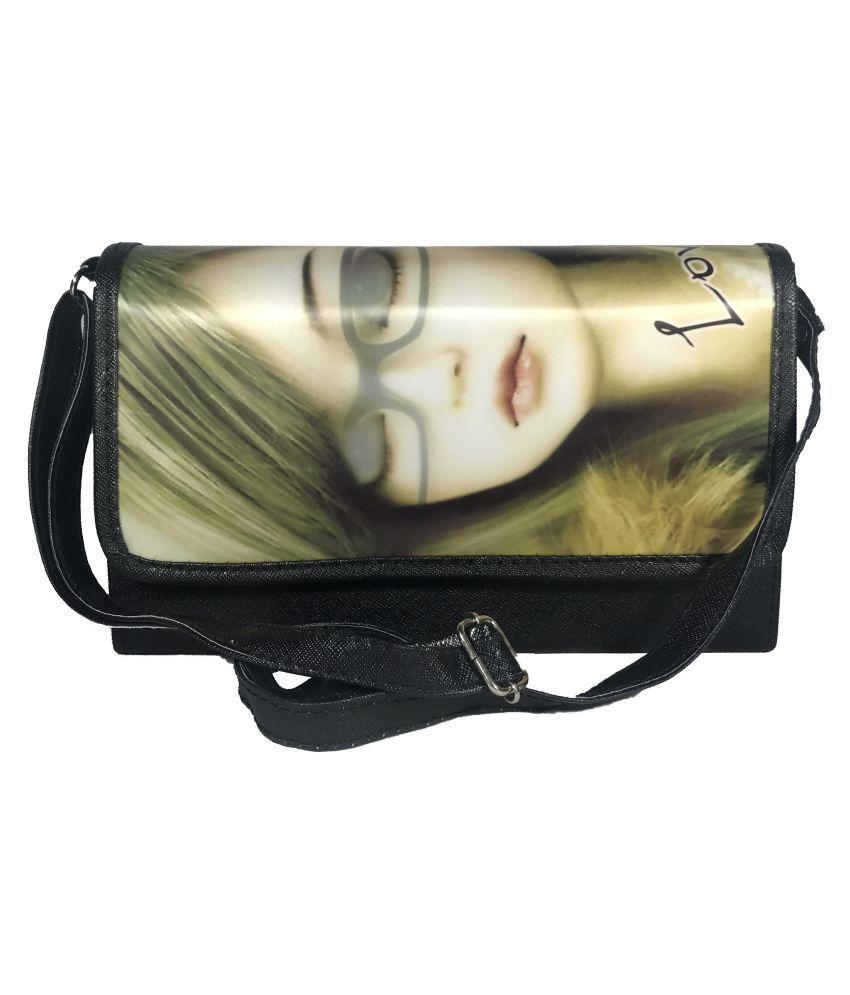 Bizarre Vogue Black P.U. Sling Bag