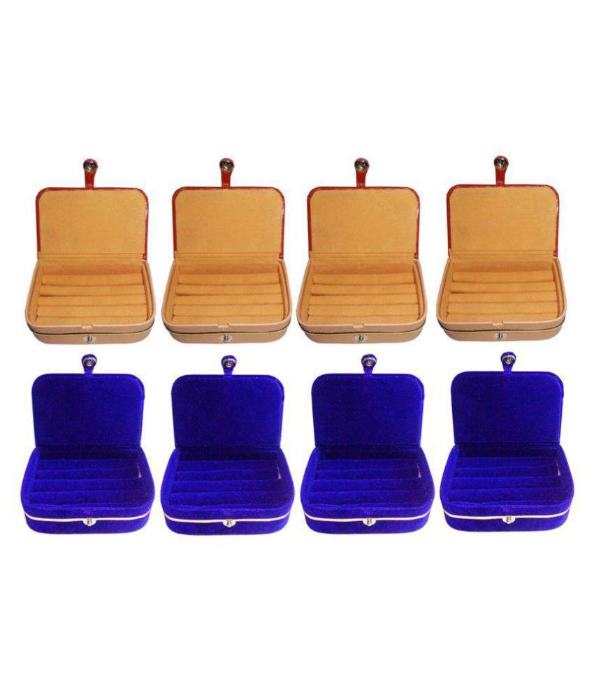 Phoenixfaso Combo of 4 pcs earEar ring folder and 4 pcs Ear ring jewelry box