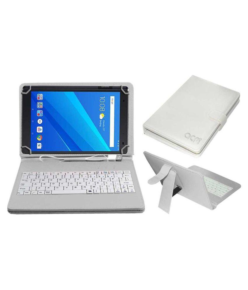 Lenovo Tab 4 Plus Keyboard Cover By ACM White