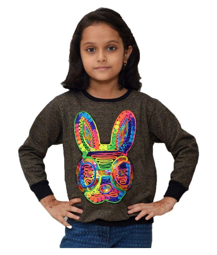 Crux&hunter cotton fleece girls patch work sweatshirt