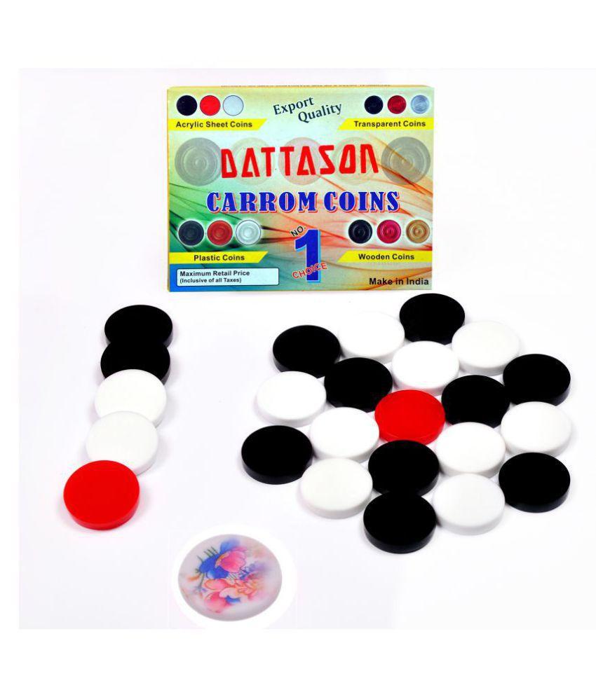 Dattason Acrylic Multicolor Carrom One Size