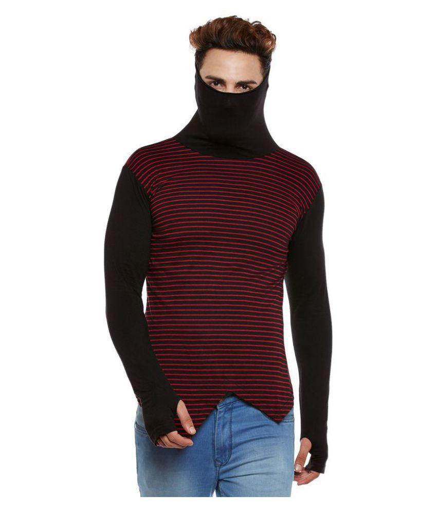Hypernation Black High Neck T-Shirt Pack of 1