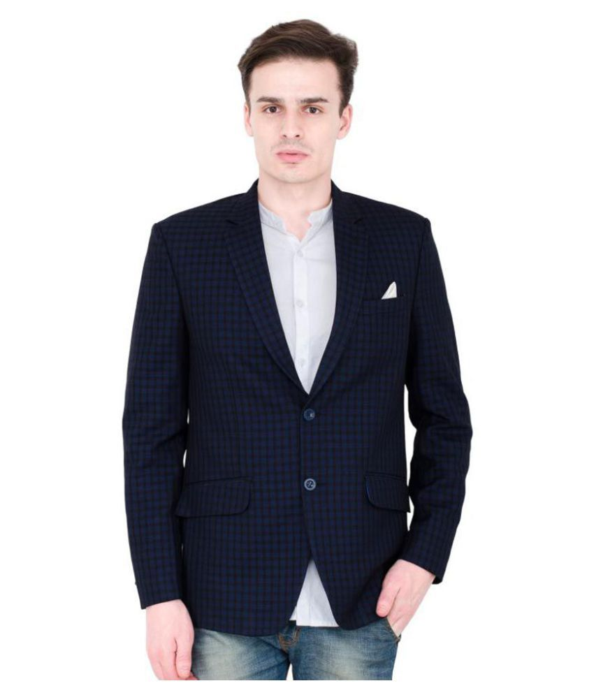 Lorenzini Designs Blue Checks Party Blazers Pack of 2