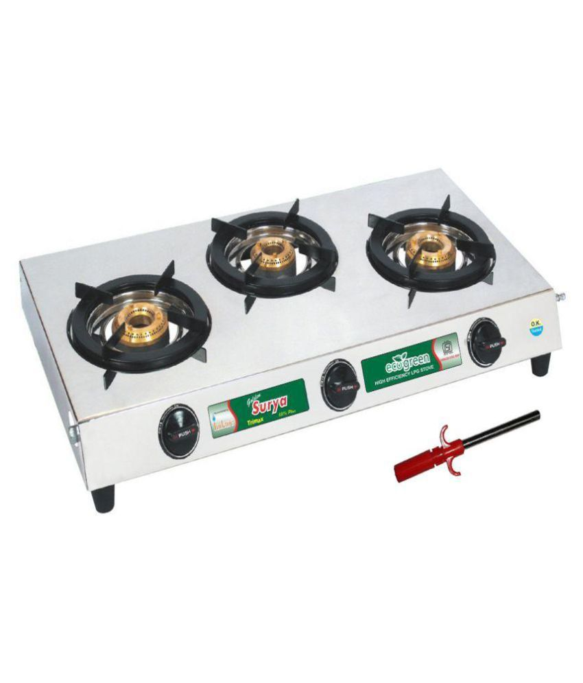 75b47460f Golden Surya Trimax 3 Burner Manual Gas Stove Price in India - Buy Golden  Surya Trimax 3 Burner Manual Gas Stove Online on Snapdeal