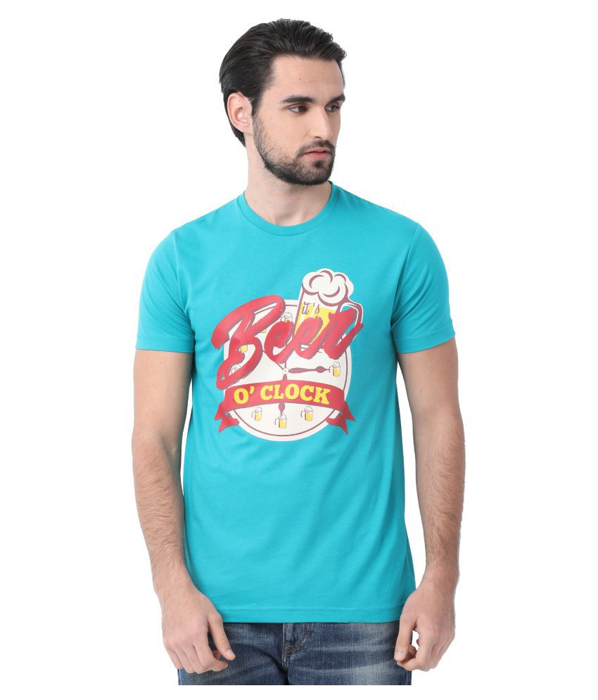SWISS CLUB Blue Round T-Shirt Pack of 1