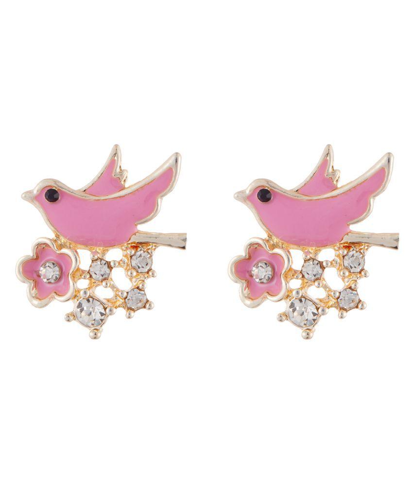 Jazz Fashion Jewellery Gold Plated Alloy Stylish Fancy Fanky Party Wear Earring for Ladies Girls