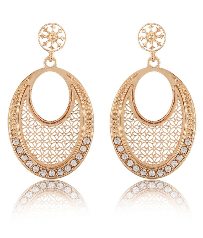 Jazz Stylish Gold Plated Classy wedding and Party wear Fancy Charming Designer Dangler Fashion Earring For Girls Laides Women