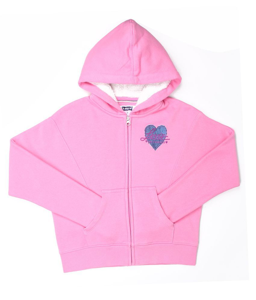 Levi's Girls Pink Sweat Shirt