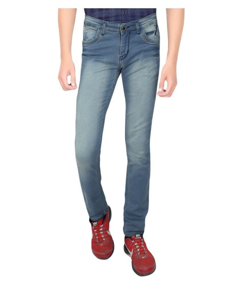 Hasasi Denim Indigo Blue Regular Fit Jeans