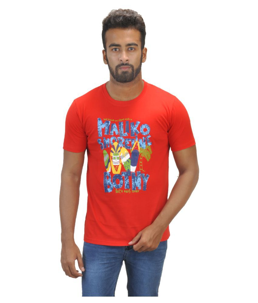 BW Red Round T-Shirt Pack of 1