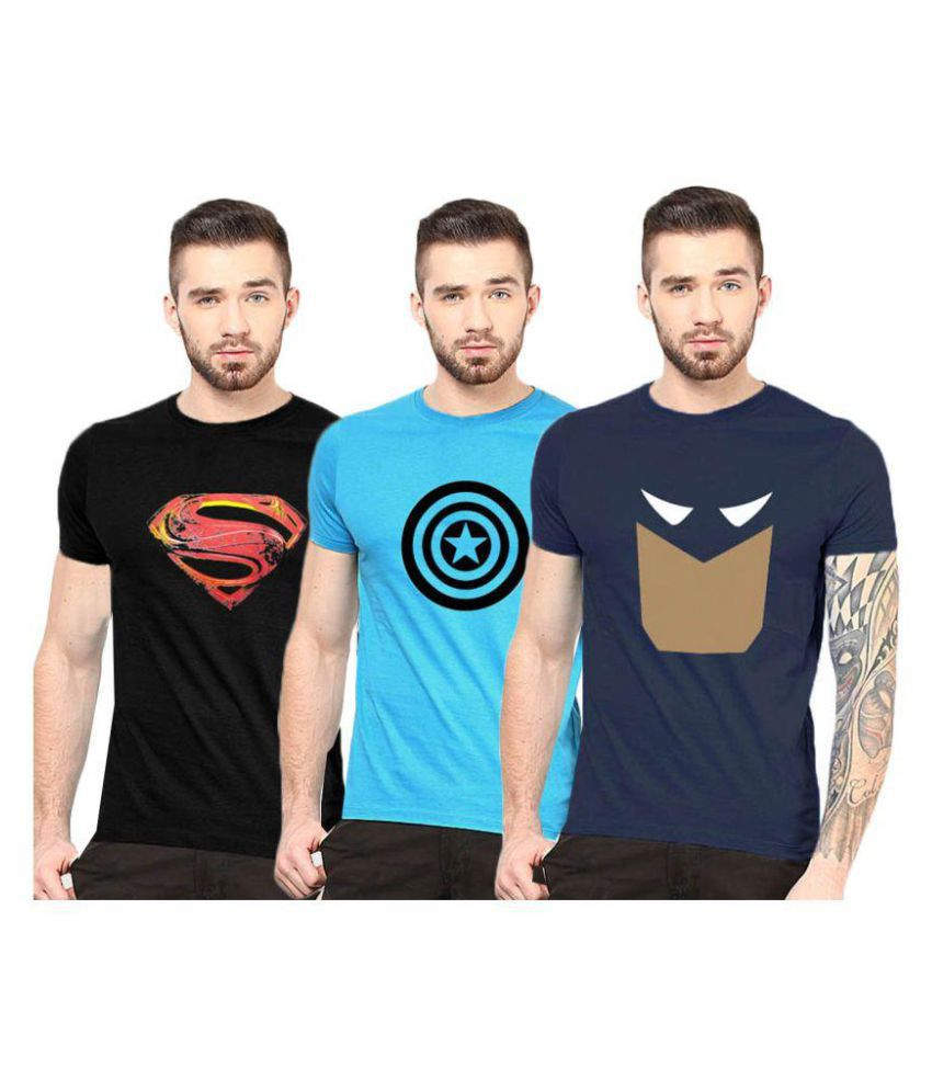 Gallop Multi Round T-Shirt Pack of 3