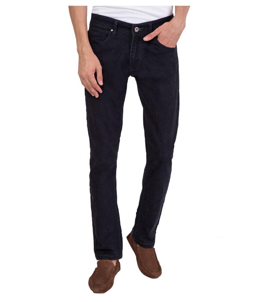 KROSSSTITCH Black Regular Fit Jeans