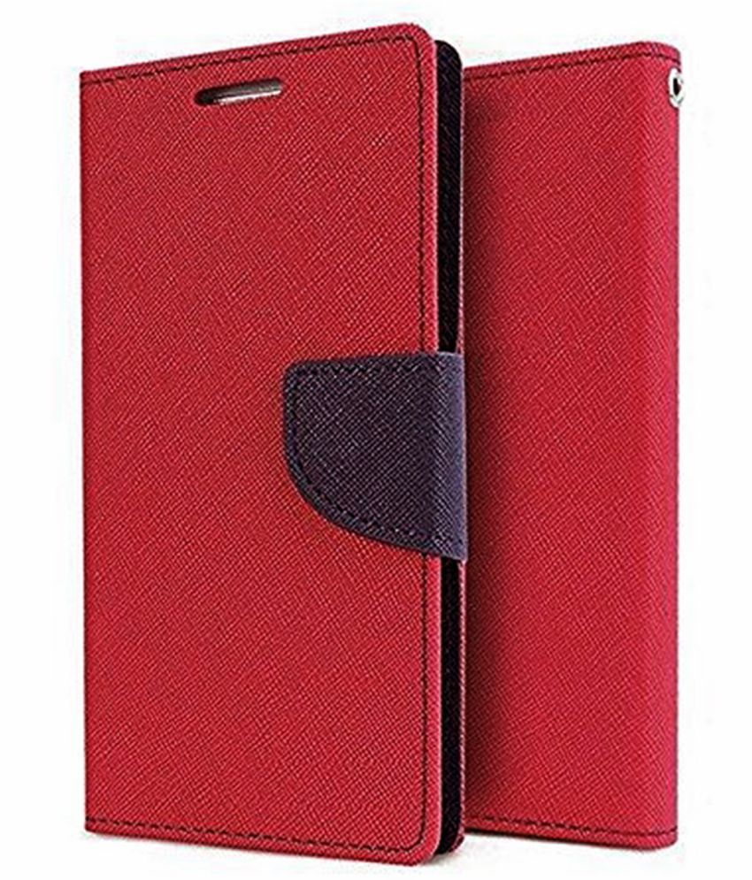 Lenovo K8 Plus Flip Cover by Hupshy - Red