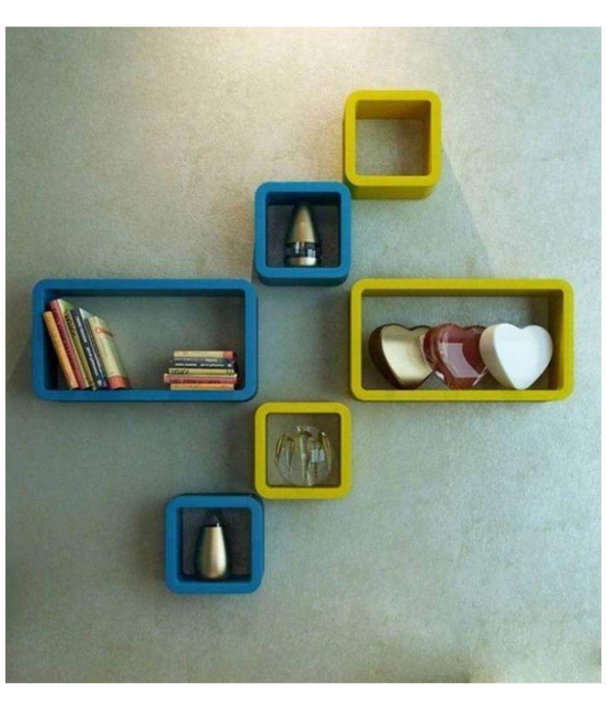 CraftOnline Floating Shelf/ Wall Shelf / Storage Shelf/ Decoration Shelf Multicolour - Pack of 1