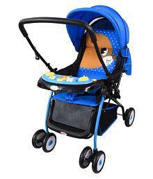 Baby Pram & Strollers Crysta Blue With Reversible Handlebar