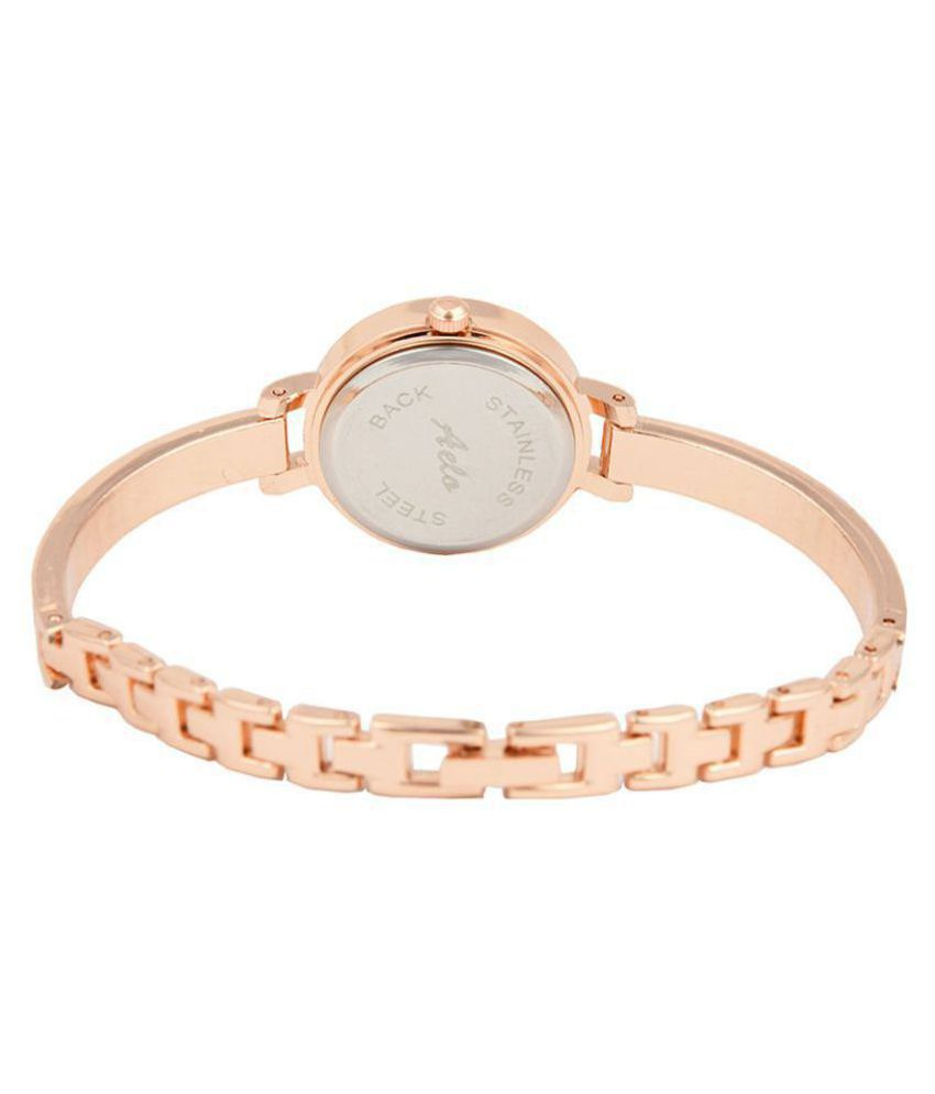 ae44a788c3d ... AELO Rose Gold Analog Watch For Girls