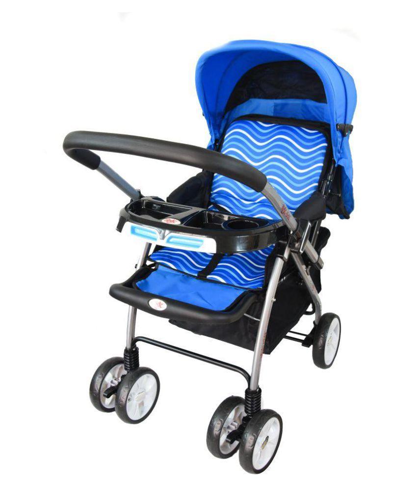 Baby Pram Amp Stroller Jet Wave Blue With Reversible