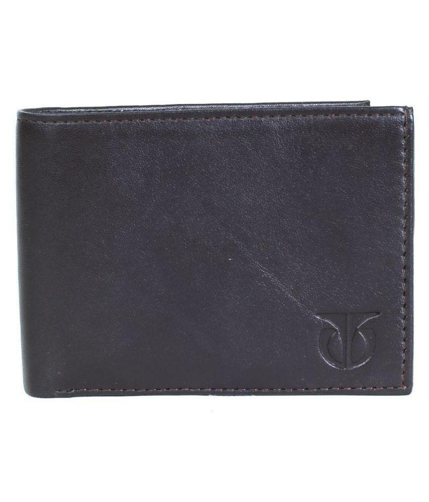 Titan PU Brown Casual Regular Wallet