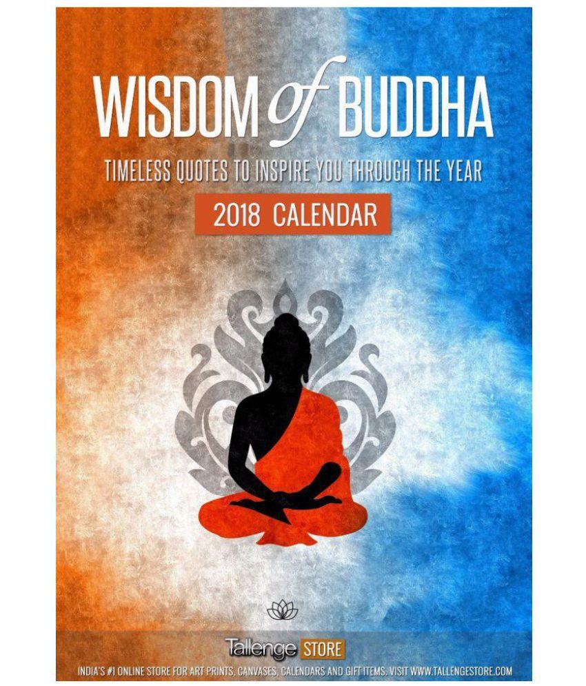 wall calendar 2018 wisdom of buddha buy wall calendar 2018