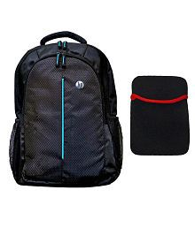 HP Black Laptop Bag with 15.6-inch Laptop Notebook Sleeve -Combo