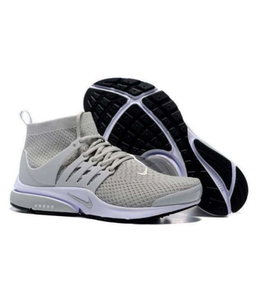 online store 0c9e4 9838d Nike Air Presto Ultra Flyknit Gray Running Shoes - Buy Nike Air Presto  Ultra Flyknit Gray Running Shoes Online at Best Prices in India on Snapdeal